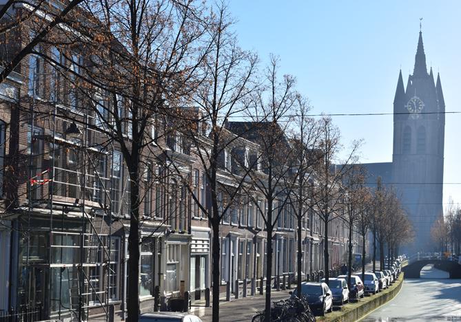 Route langs de Oude Delft