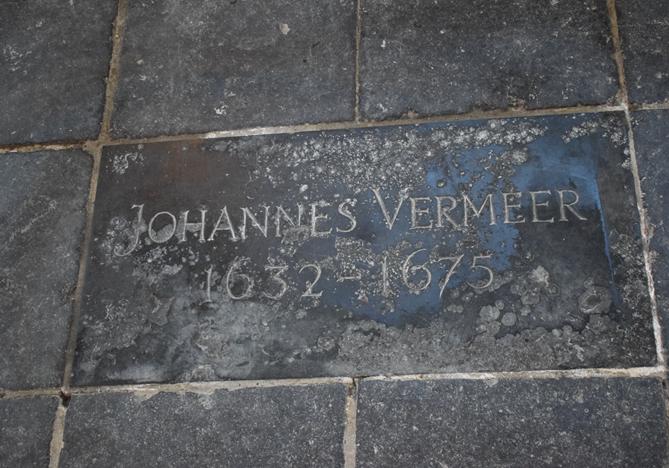 Grafsteen in Oude Kerk